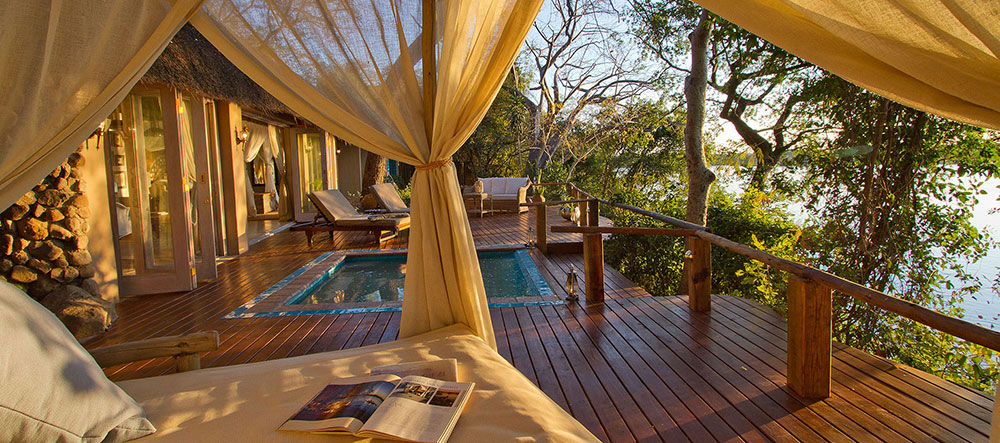 tongabezi honeymoon house deck