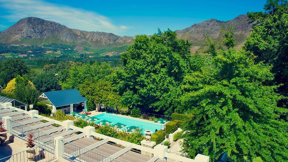 Le Franschhoek Hotel Spa Flyover