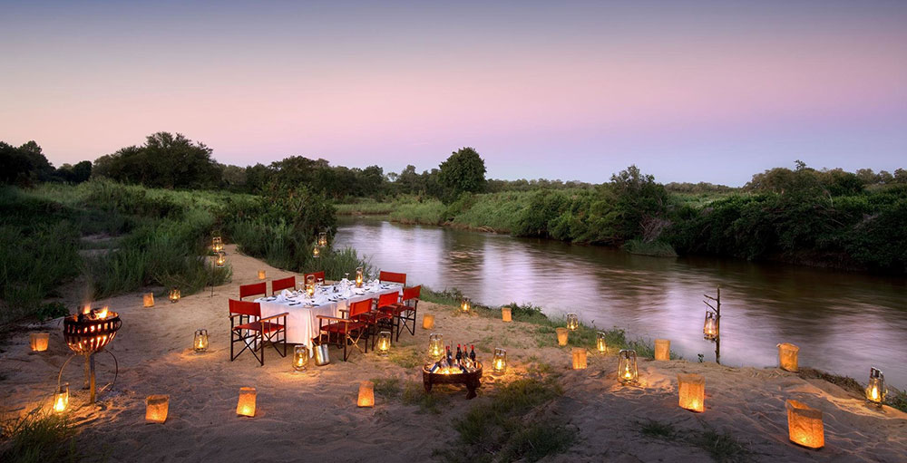 Lion Sands River Lodge - Bush Dinner